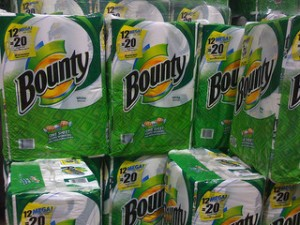 Procter & Gamble, maker of Bounty paper towels, increased their dividend payout by 7% this year. Photo courtesy SwitchYard Media via Flickr.
