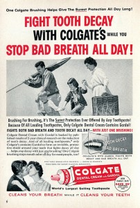 This 1957 ad is almost as old as Colgate-Palmolive's dividend growth history, but not quite - Colgate's dividend growth began in 1964. Photo courtesy SenseiAlan/flickr.com.