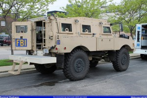 Defense contractor General Dynamics, maker of the Mine-Resistant Ambush Protected vehicle for the military and law enforcement, announced their latest dividend payment this week.  GD has increased dividends for 17 straight years. Photo courtesy Raymond Wambsgans/flickr.com.